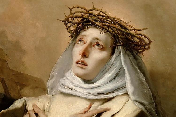 St. Catherine of Siena by Giovanni Battista Tiepolo, public domain